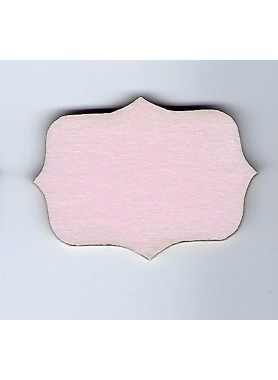 Petite pancarte rose pâle